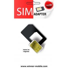 Adaptér Nano SIM na regulérní velikost