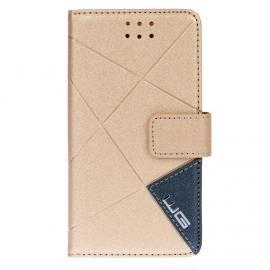 Pouzdro Cross Flipbook Samsung Galaxy A3 (2016) (Zlatá)