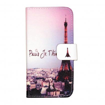 "Pouzdro Pure Flipbook Samsung Galaxy A3 (2016) ""Eiffel"" (Růžová)"