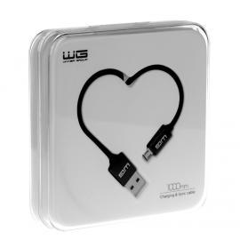 Datový kabel Micro USB Heart Box (Černý)