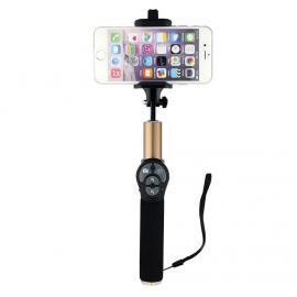 Teleskopická tyč s bluetooth tlačítkem pro selfie (Zlatá)