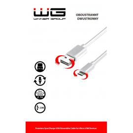 Oboustranný datový kabel Micro USB (Bílý)