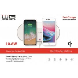 Bezdrátová nabíječka stolní/Fast Wireless Charger/white