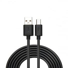 Datový kabel Micro USB s prodlouženým konektorem (Černý)