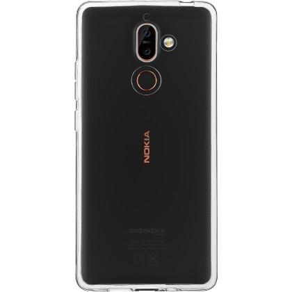 Pouzdro Azzaro T TPU 1,2mm slim case Nokia 7 Plus/transparent