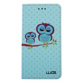 "Pouzdro Flipbook Huawei P9 Lite Mini (2017) ,""Blue Owl"""