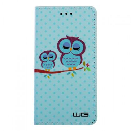 "Pouzdro Flipbook Huawei P9 Lite Mini (2017) ,,Blue Owl"""
