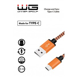 Datový kabel Type C (Oranžový)