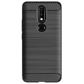 Pouzdro Carbon Nokia 7.1 (2018) (Černé)