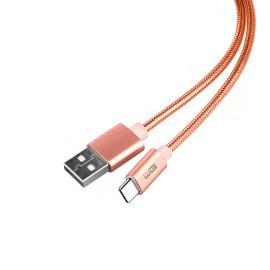 Datový kabel Type C (1M) (Růžový)