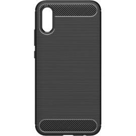 Pouzdro Carbon Huawei Y6 (2019) (Černé)