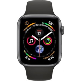 APPLE Watch Series 4 - 44mm Space Grey Aluminium Case, Black Band