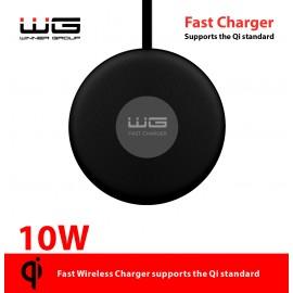Bezdrátová nabíječka kulatá stolní/Fast Wireless Charger 10W (Černá)
