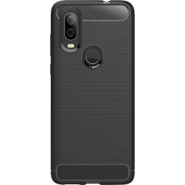 Pouzdro Carbon Motorola One Vision (Černé)