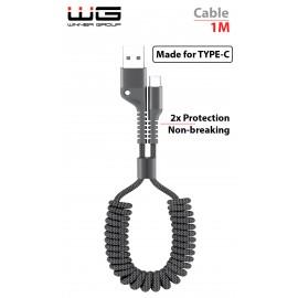 Datový kabel kroucený Type C 1m nylon braided