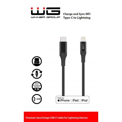 Datový kabel MFI Type C to Lightning 1m (Černý)