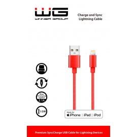 Datový kabel Lightning MFI-USB/1M (Červený)