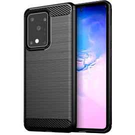 Pouzdro Carbon Samsung Galaxy S20 Ultra (Černé)