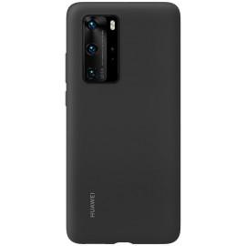 Pouzdro Silicone Cover Huawei P40 Pro (Černé)