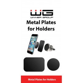 Sada kovových nalepovacích plíšků pro držáky do auta