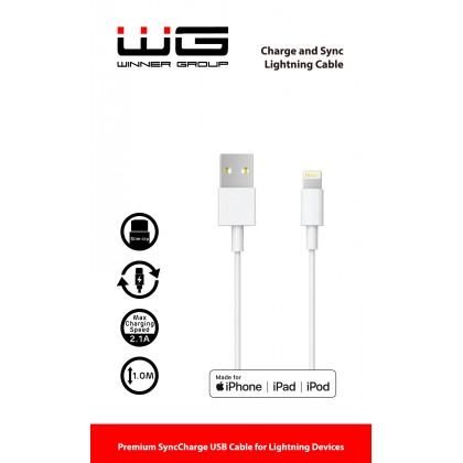 Walnut kabel - MFI Lightning (Bílá)