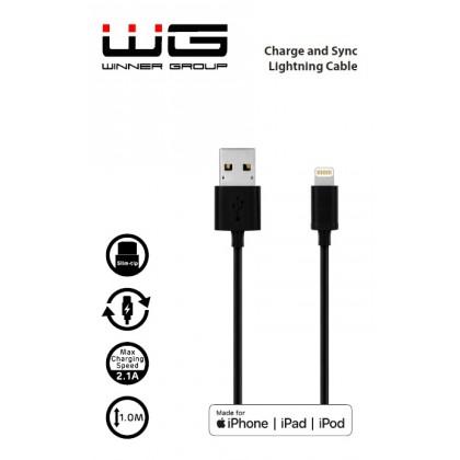 Walnut kabel - MFI Lightning (Černá)