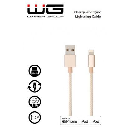 Walnut kabel - MFI Lightning (Zlatá)