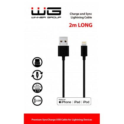 Datový kabel USB lightning MFI 2m (Černý)