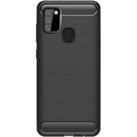 Pouzdro Carbon Samsung Galaxy A21s (Černé)