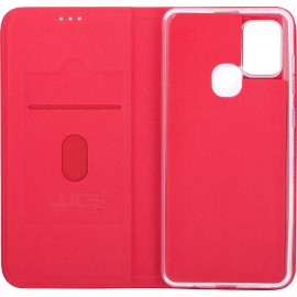 Pouzdro Flipbook Duet Samsung Galaxy A21s (Červené)
