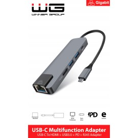 Type-C HUB/HDMI/RJ45/USB3.0/ (hliník)