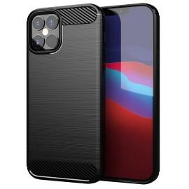 Pouzdro Carbon iPhone 12 Pro/12 Max (Černé)