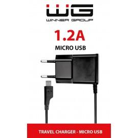 USB Charger 1,2A MICRO-USB Cable (Černá)