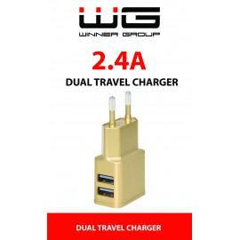 DUAL USB Charger 2,4A (Zlatá)