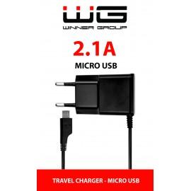 USB Charger 2,1A MICRO-USB Cable (Černá)