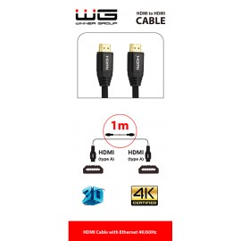 Datový kabel HDMI na HDMI-1m (Černý)
