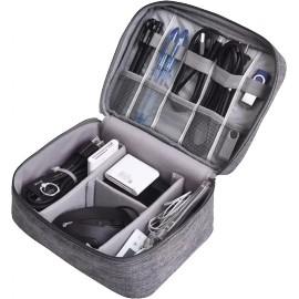 Cestovní pouzdro na elektroniku-24x17x9cm (Šedé)
