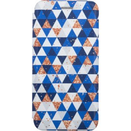Case Evolution 3D TRIANGLE Samsung Galaxy A51 (White&Blue)