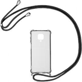 Case Crossbody Xiaomi Redmi Note 9 Pro (Black strap)