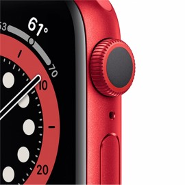 Hodinky Apple Watch Series 6 GPS - 40mm Red Case, Red Sport Band
