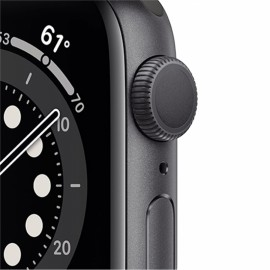 Hodinky Apple Watch Series 6 GPS - 44mm Space (Gray) -Black Sport Band