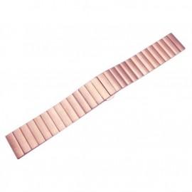 Náhradní řemínek kovový rovný iWatch+ adapter 38/40mm (Růžový)