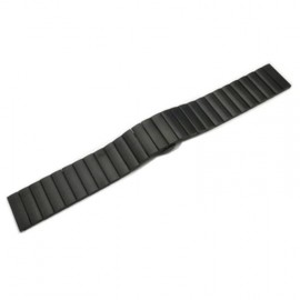 Náhradní řemínek kovový rovný iWatch+ adapter 38/40mm (Černý)