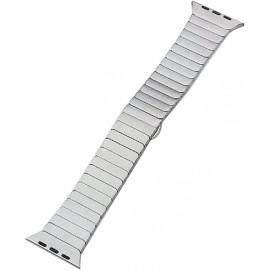 Náhradní řemínek kovový rovný iWatch+ adapter 38/40mm (Stříbrný)