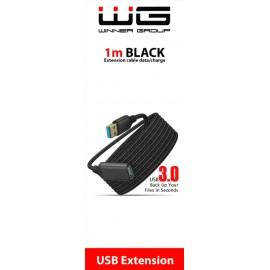 Prodlužovací kabel USB na USB - 1m (Černý)