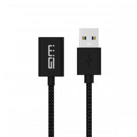 Prodlužovací kabel USB na USB - 3m (Černý)