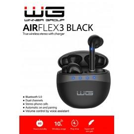 Bluetooth sluchátka AirFlex 3 (Černé)