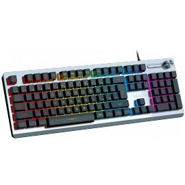 Herní klávesnice podsvícená (drátová) (Stříbrná)