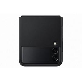 Kožený zadní kryt Samsung Galaxy Z Flip3 (Černý)