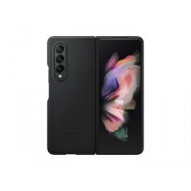 Kožený zadní kryt Samsung Galaxy Z Fold3 (Černý)